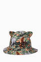 thumbnail of Floral Logo Bucket Hat in Twill   #0