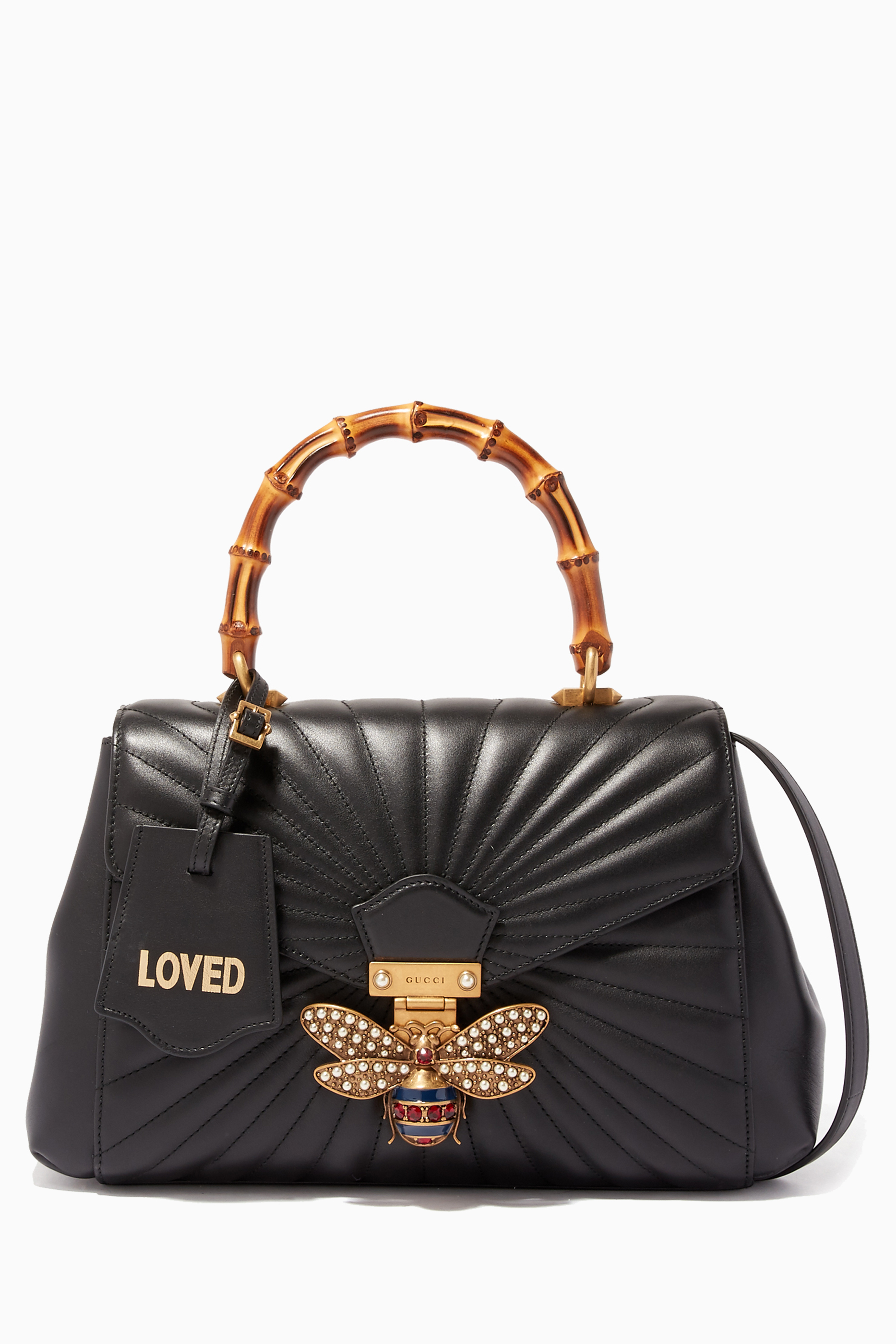 Shop Gucci Black Black Queen Margaret Quilted Top,Handle