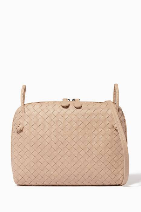 Mink Double Zip Knot Messenger Bag