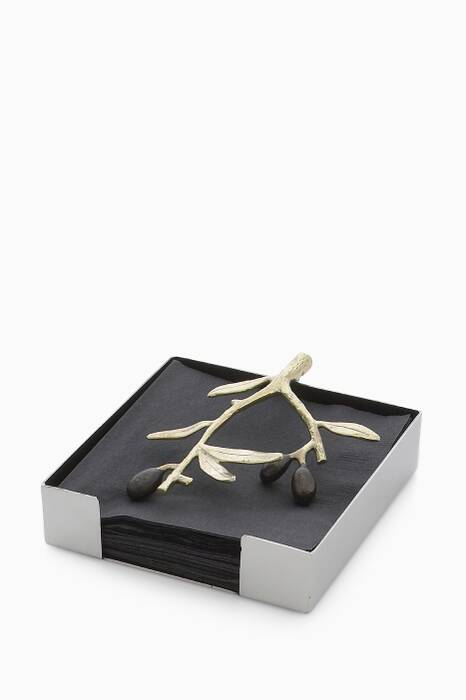 Olive Branch Cocktail Napkin Holder - Multi Colour