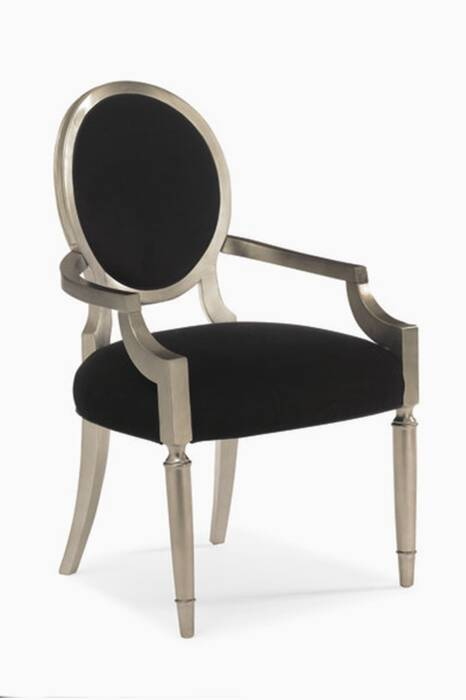 Taupe & Wood Chit-Chat Side Armchairs