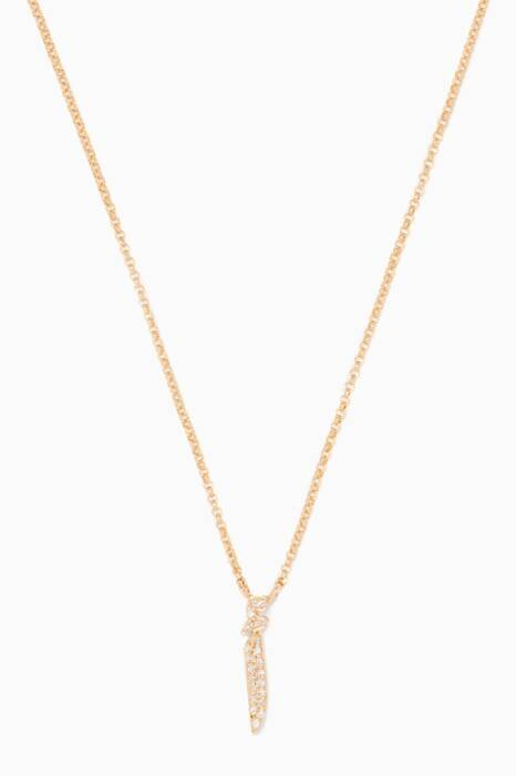 Yellow-Gold Letter A Necklace