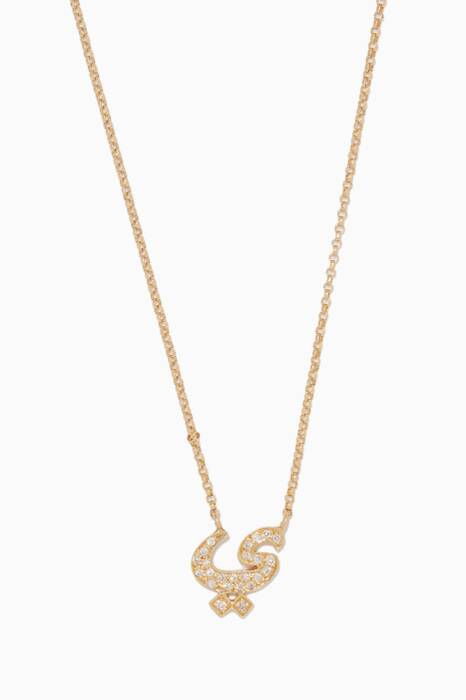 Yellow-Gold & Diamond Y Charm Necklace