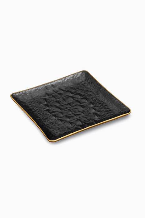 Black Crocodile Desk Tray