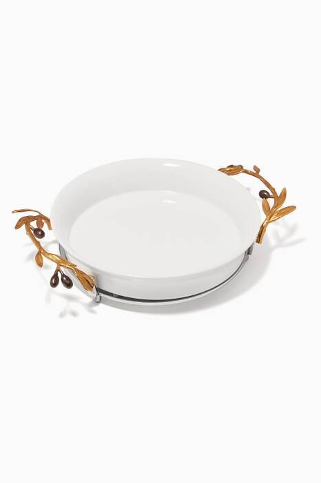 Olive Branch Pie Plate