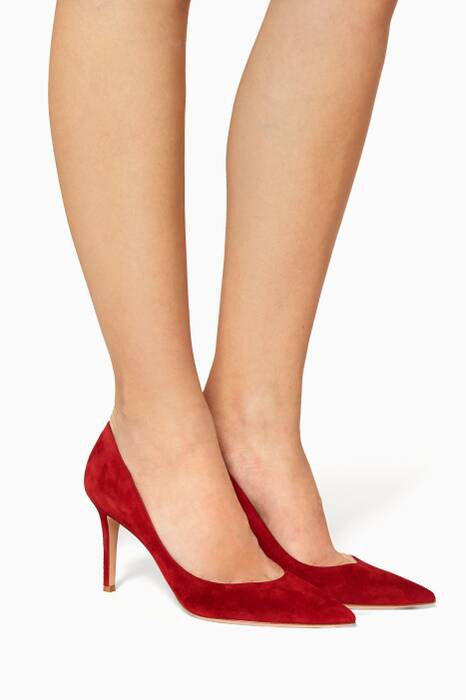 Burgundy Italian Suede Pumps
