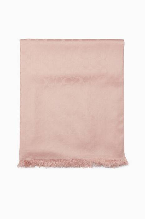 Light-Pink Jacquard Signature C Stole
