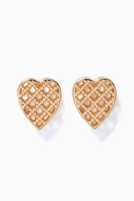Yellow-Gold Diamantissima Heart Earrings