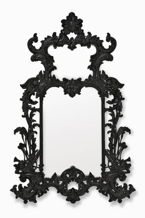 Black Leighton Mirror