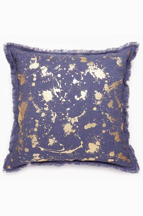 Gilded Drip Throw Pillow