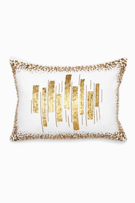 White Talitha Amoeba Bars Pillow