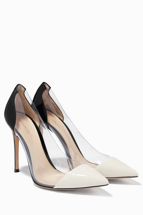 Monochrome Patent Plexi Pumps