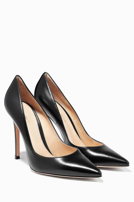 Black Gianvito Leather Pumps