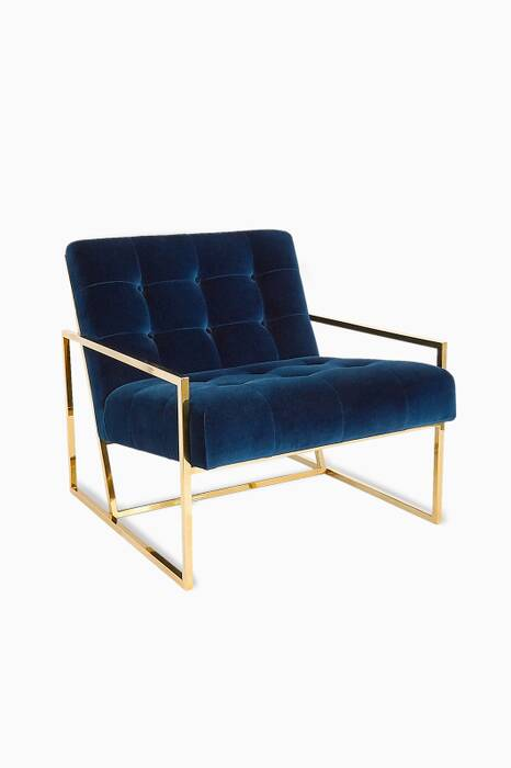 Goldfinger Navy Velvet Lounge Chair