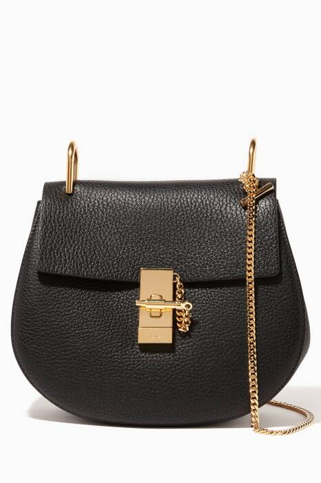 Black Small Drew Shoulder Bag