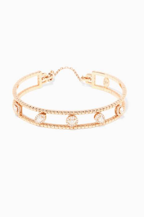 Rose-Gold & Diamond Rock Candy Bangle