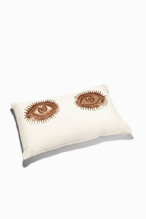 White Muse Eyes Pillow