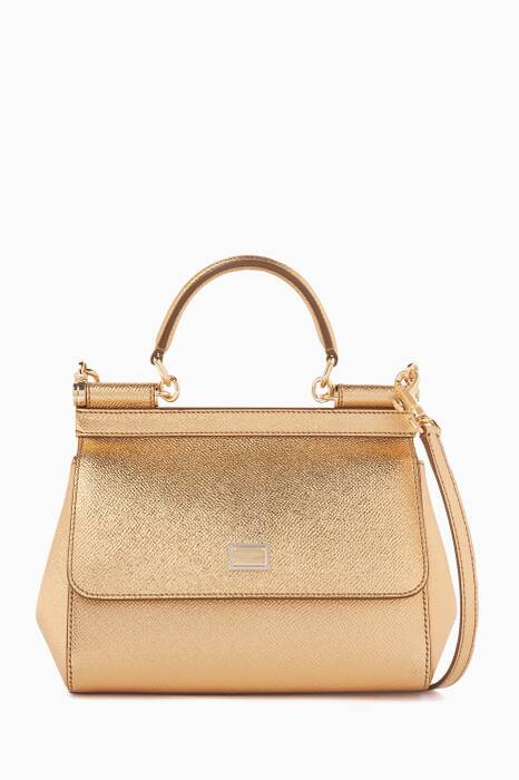 Gold Small Dauphine Leather Miss Sicily Bag