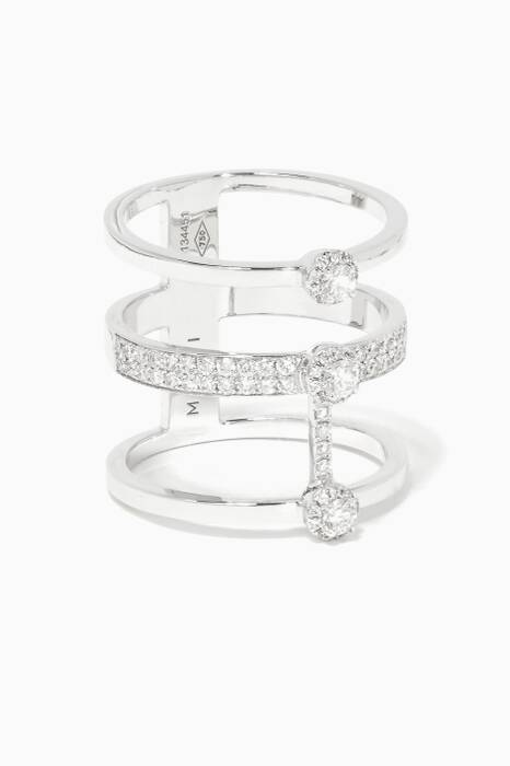 White-Gold And Diamond Fifi Ring
