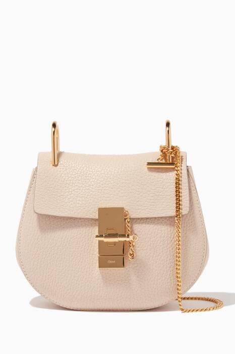 Abstract White Mini Drew Shoulder Bag