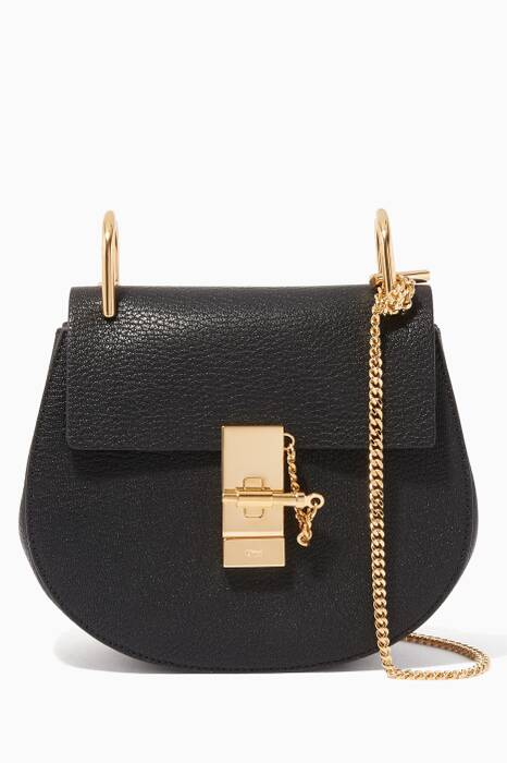 Black Mini Drew Shoulder Bag