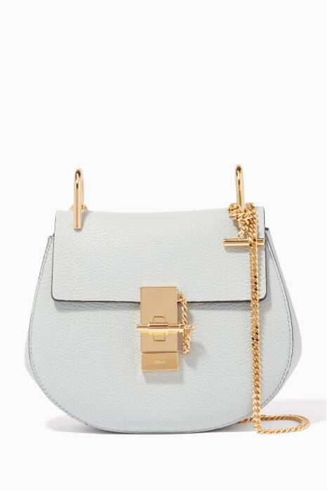 Airy-Grey Mini Drew Shoulder Bag