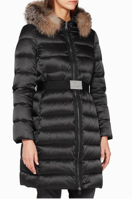 Black Tinuviel Quilted Puffer Jacket