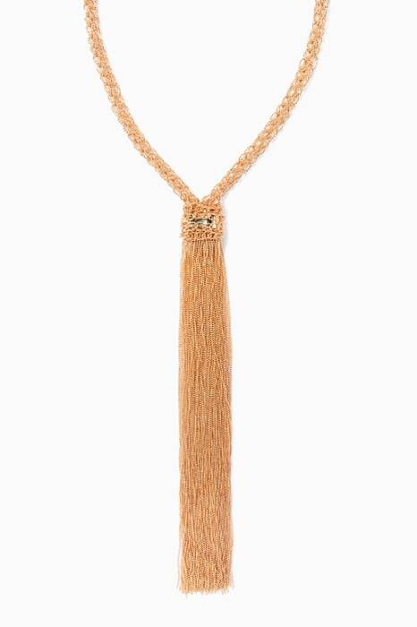Gold Itaca Tassel Necklace