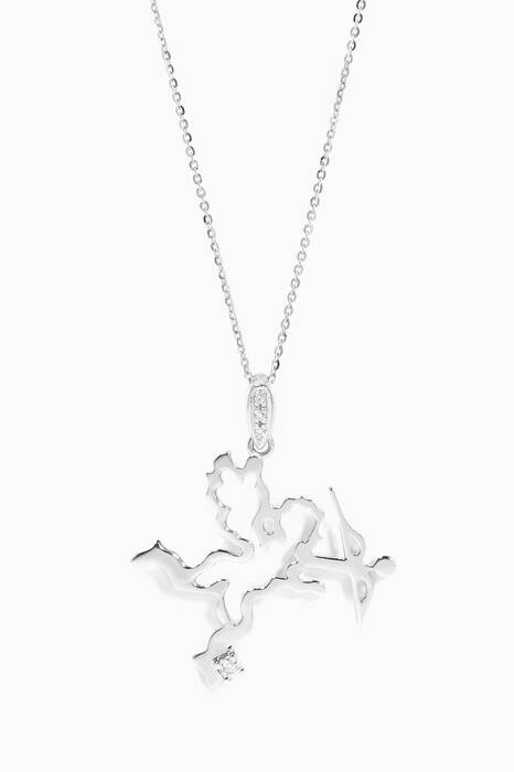White-Gold Cupid Necklace