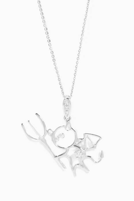 White-Gold Little Devil Necklace