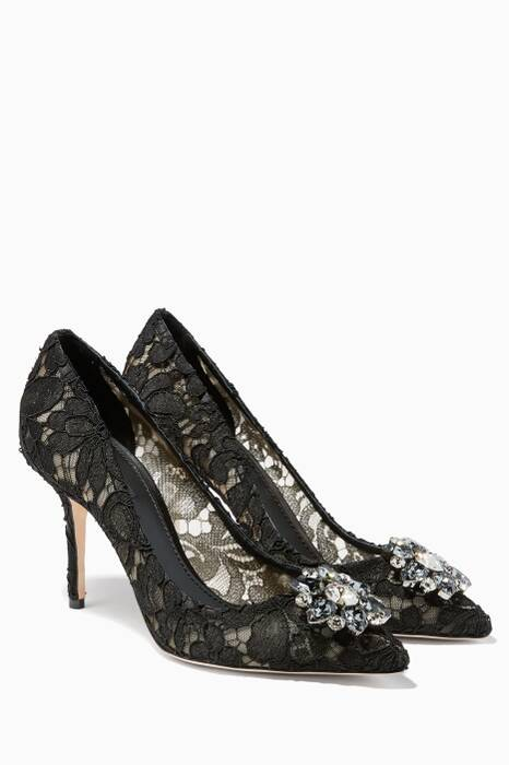 Black Bellucci Lace Pumps