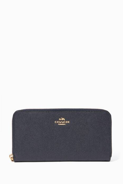 Midnight-Navy Accordion Zip-Wallet
