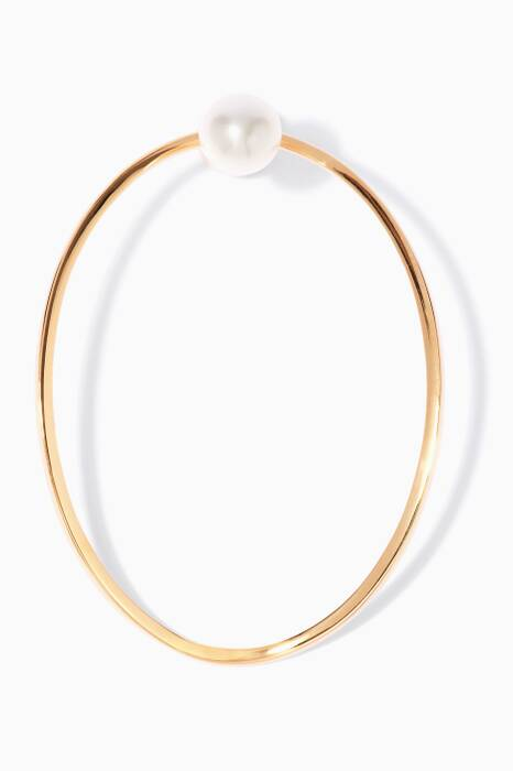 Gold Single Eclipse Earing