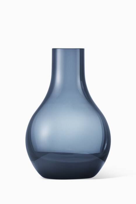Blue Extra-Small Cafu Glass Vase