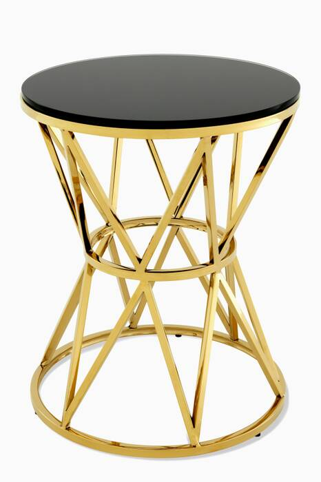 Gold Domingo Side Table