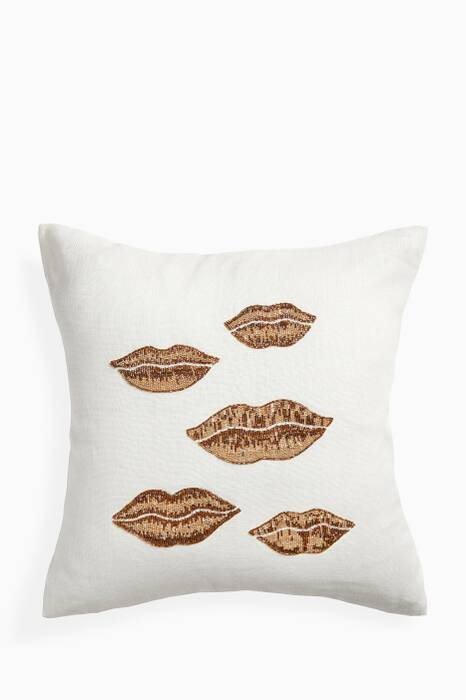 White Muse Lips Pillow