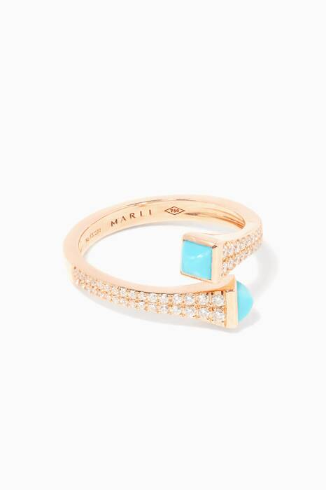 Rose-Gold Cleo Turquoise Ring