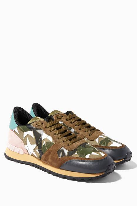Camouflage Starstudded Sneakers