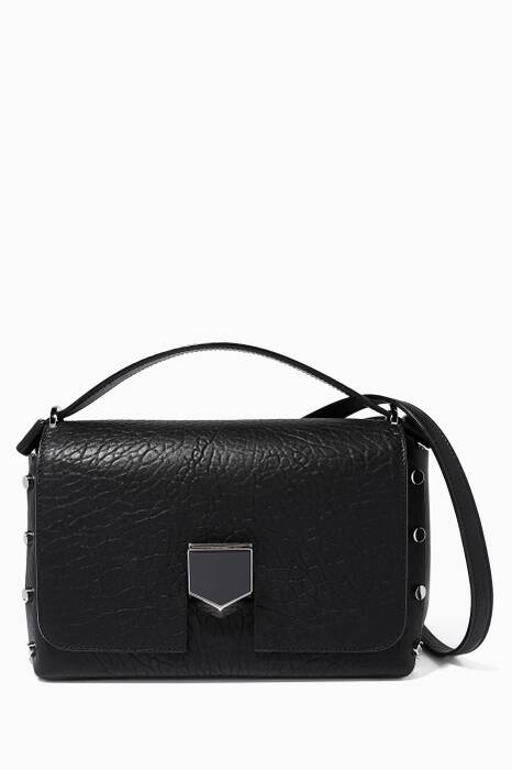 Black Lockett/S Leather Shoulder Bag