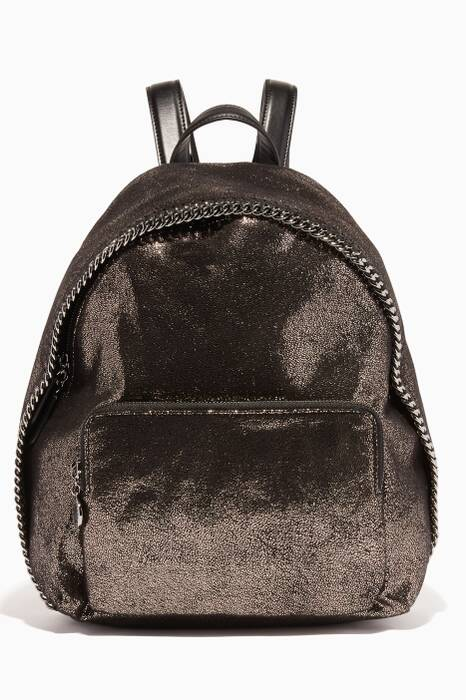 Metallic-Black Falabella Shaggy Deer Backpack
