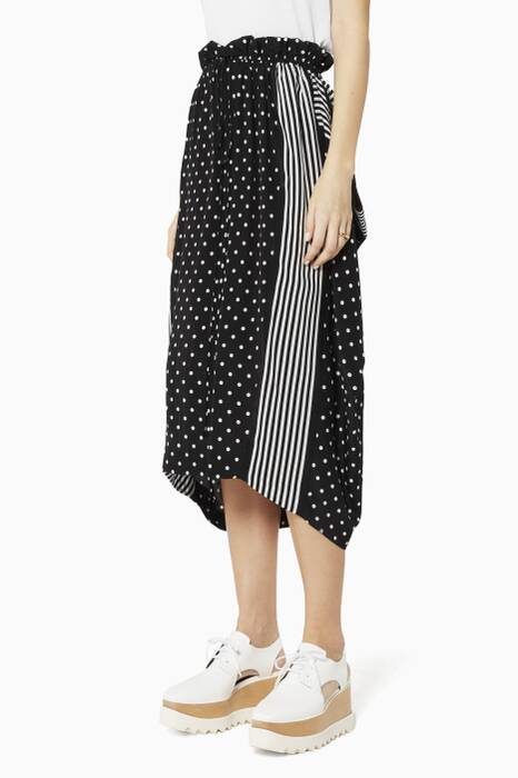 Black Tanya Polka-Dot Skirt