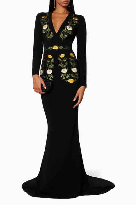 Floral Embroidered Sarah Gown