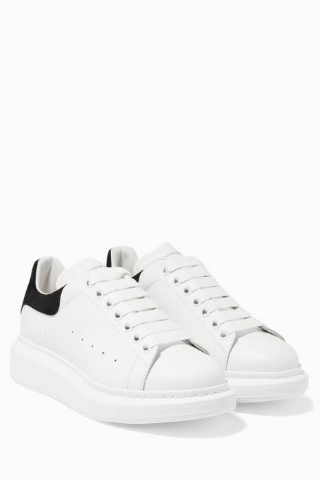 White Platform Leather Sneakers