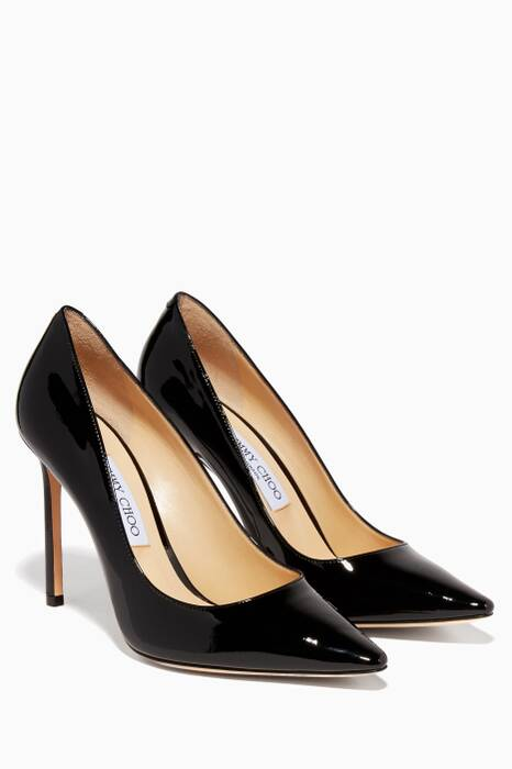 Black Patent Romy Pumps