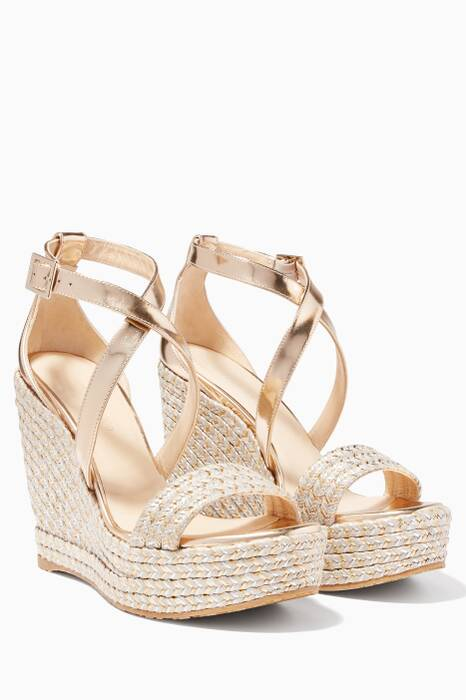 Portia 120 Metallic Raffia Wedges