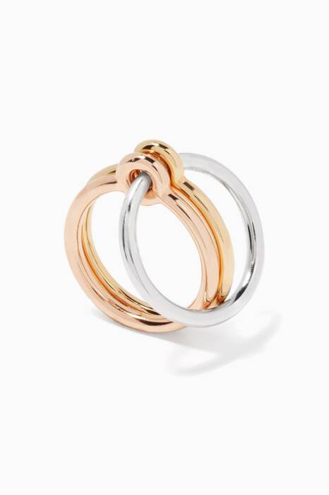 Gold & Silver Three Lovers Ring