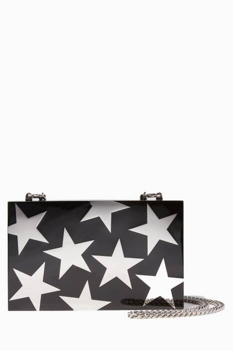 Black Plexy Stars Clutch