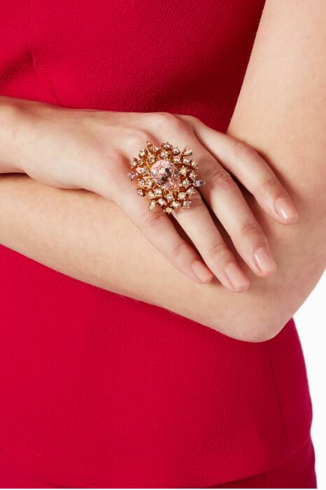 Gold Tiered Crystal Ring