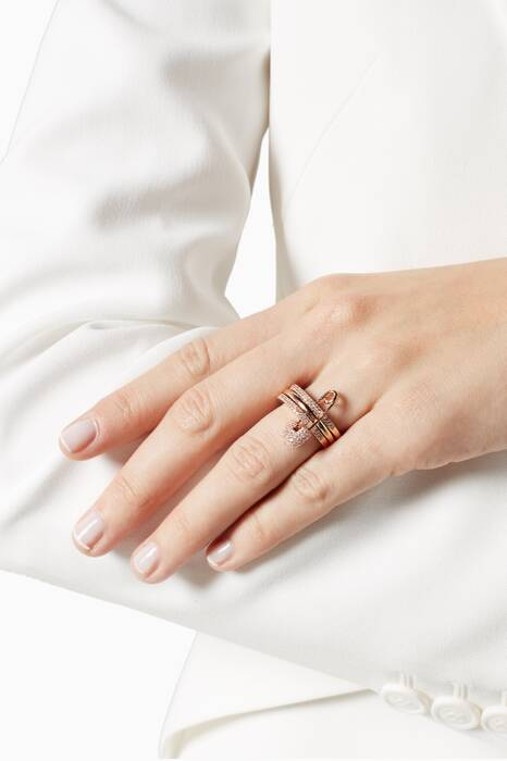 Rose-Gold Safety Pin Ring