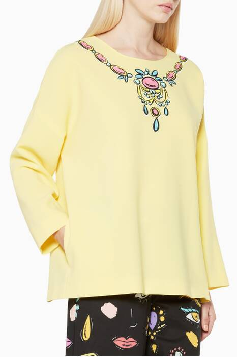 Yellow Necklace Motif Top